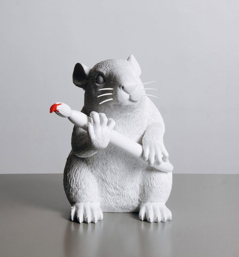 BANKSY | BRANDALISM LOVE RAT (white)